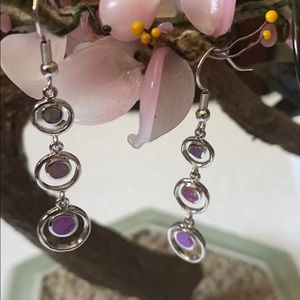 Vintage 925 opal earrings